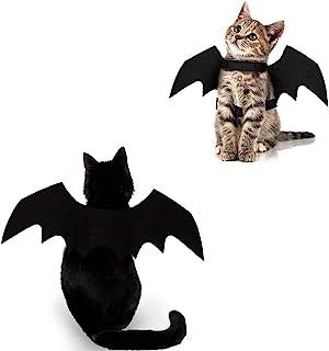 لباس گربه هالووین خفاش بال بال حیوان خانگی لباس هالووین لباس لوازم جانبی برای گربه سگ های کوچک توله سگ بچه گربه بچه گربه پسر یا دختر
