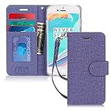 FYY Cover iPhone 6S Plus, Cover iPhone 6 Plus, Flip Custodia Portafoglio Libro Pelle PU con Porta Carte e Funzione Supporto per iPhone 6 Plus/6S Plus-Tela Viola
