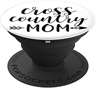 Cross Country Mom & Arrow on White Runner Gift PACN015a - PopSockets Grip and Stand for Phones and Tablets
