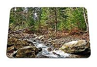 22cmx18cm マウスパッド (ウクライナカルパティア山脈川山石木) パターンカスタムの マウスパッド