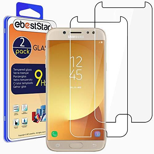 """ebestStar - [2 Pack Verre trempé Compatible avec Samsung J5 2017 Galaxy SM-J530F Film Protection Ecran Vitre Protecteur Anti Casse, Anti-Rayure, Pose sans Bulles [Phone: 146.2 x 71.3 x 7.9mm, 5.2""""]"""