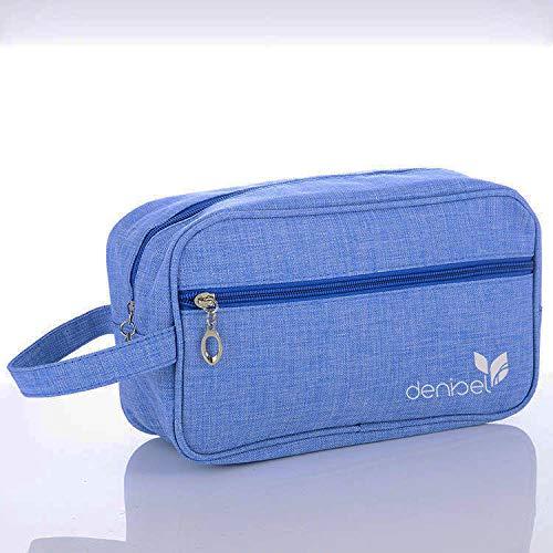 Large Lightweight 600D Toiletry Bag for Teens Kids girls women, Shaving Dopp Kit for men boys Travel Kit Organizer Makeup Cosmetic Hygiene Medicine Bag For Gym College hospital, Unisex (Sky Blue)