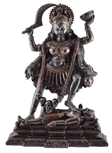 Veronese 708-7535 Figur Kali Indische Göttin des Todes Shiva bronziert Skulptur 20 cm