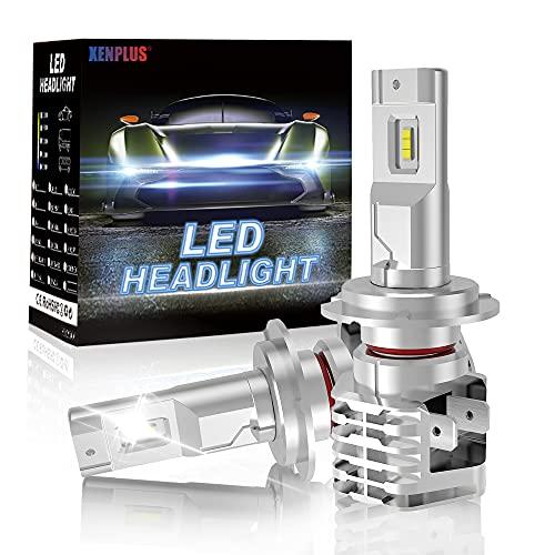 XENPLUS Bombilla H7 LED Canbus Coche,50W 10000LM 6500K Blanco Faros Delanteros sin Ventilador en Línea Luce, Kit de LED H7 Impermeable Faros,2 Lámparas