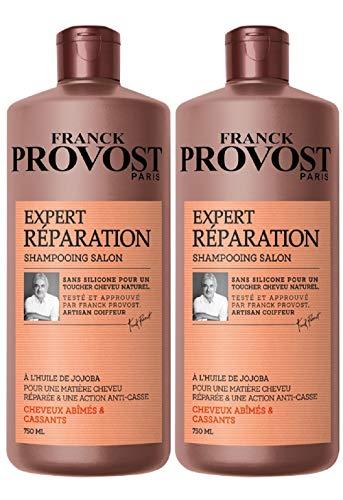FRANCK PROVOST - Expert Réparation+ Shampooing Professionnel Répare & Renforce - 750 ml - Lot de 2