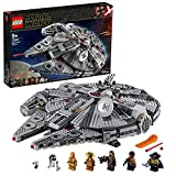 LEGO Star Wars TM - Halcón Milenario, Juguete de Construcción de Nave Espacial, Incluye Minifiguras de Finn,...