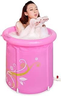 SHYPT Pink Inflatable Bathtub,Portable Plastic Bathtub,PVC Bath Tub Tub Spa for Adult Bathroom with