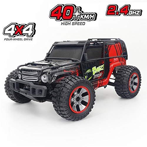 Izzya Ferngesteuertes Auto 1/10, 40KM/H 4WD Hochgeschwindigkeits-Rennauto, 2.4GHz Funkfernsteuerung Offroad Monstertruck Buggy Auto Geschenk für Kinder und Erwachsene