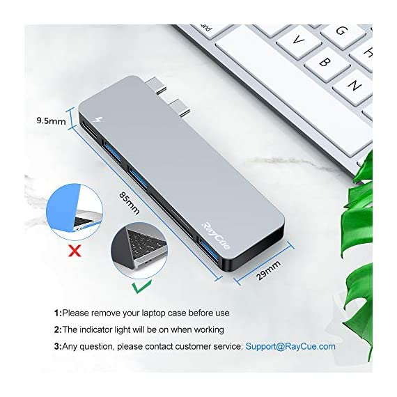 USB C Hub, 6 in 1 Aluminum Type C Hub Adapter, MacBook Pro 2020 Accessories with 3 USB 3.0 Ports, TF/SD Card Reader, USB… 5 【MacBook Pro USB Accessories】 This USB C Hub is very powerful, with USB C charging port with power supply, SD card reader, TF card reader, 3 USB 3.0 ports , support for keyboard, mouse, USB driver, external disk connection to my MacBook Pro. It works beautifully with MacBook Pro and matches it as well color wise. 【Super Speed USB 3.0 Transfer】 Three 3.0 USB ports support up to 5 Gbps transfer rates, connecting to smartphones, tablets and hard drives for easy high-speed data transfer. It supports high speed up to 87W PD charging. 【Thunderbolt 3 Charging】 This USB C adapter With Thunderbolt 3 pass-through charging port that supports Power Delivery(PD), quickly charge your connected devices while displaying or transferring data, worry-free about power storage.