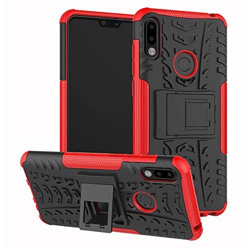 SCIMIN Capa para Asus Zenfone Max Pro (M2), capa híbrida para Asus Zenfone Max Pro (M2), capa híbrida de proteção de camada dupla à prova de choque com suporte para Asus Zenfone Max Pro (M2) ZB631KL