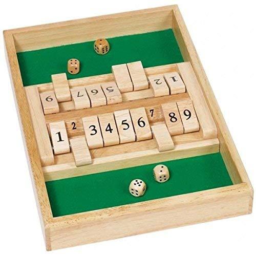 Bavaria Home Style Collection Shut The Box mit Würfel Würfelspiel für Zwei Spieler