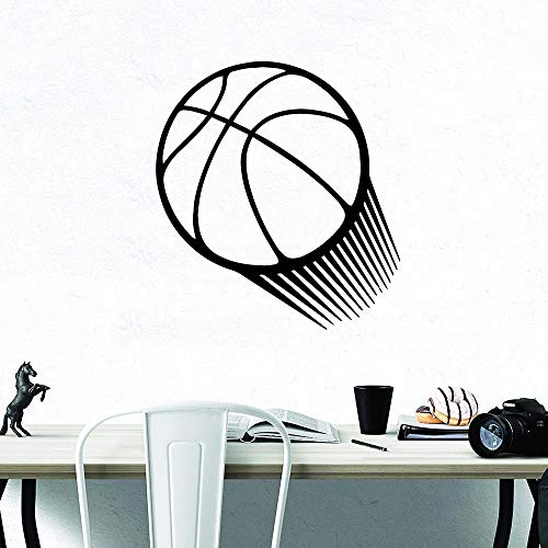 Etiqueta engomada del baloncesto 3D papel pintado impermeable etiqueta de la decoración del hogar decoración del hogar etiqueta de la pared impermeable papel tapiz A5 57x62cm