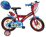 Pat' Patrouille Velo 14' Garcon 2 Freins PB/Bidon Ar + Casque Bicicleta Infantil, Niñas, Multicolor, 14''