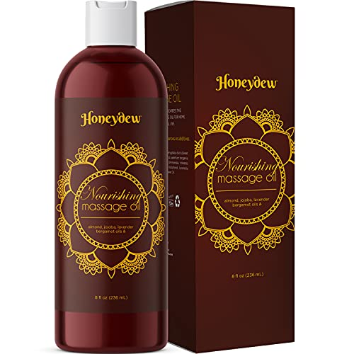 Relaxing Massage Oil for Couples Gifts - Aromatherapy Oils for Massages & Body Care with Almond Lavender Essential Oil Bergamot & Jojoba Oil for Skin Care - Lavender Massage Oil for Massage Therapy