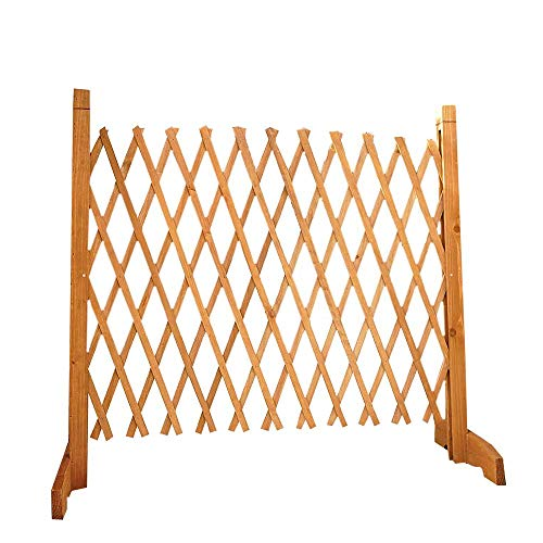 easylife lifestyle solutions Solid Wood Expanding Fence | Mobile and Movable Fence | Gardeners & Pet Owners | Fold-able Design and Lightweight | H:90cm x W:30-190 cm | From Natural Wood
