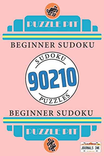 Beginner Sudoku: 202 Puzzles, 2 per page & solutions. 90210 Pink. All Ages USA Edition. Gift this strange thing to friends and fans that marvel ... for fun activity time! (Movies & TV Sudoku)