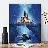 ACENGXI Disney Diamond Paint by Numbers Disney Diamond Painting Disney Castle Diamond Painting by Number Disney Castle Full Drill Crystal Diamond Painting Disney Mickey Paint by Numbers Mickey 12x16In