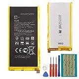 Batteria di ricambio GL40 compatibile con Motorola Moto Z Play Droid XT1635, 3.300 mAh, 3,8 V, batteria interna di ricambio con strumenti