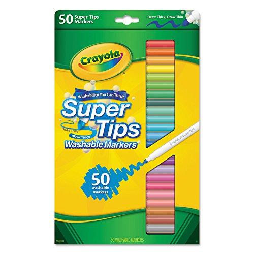 CYO585050 - Crayola Washable Super Tips Fine Line Markers