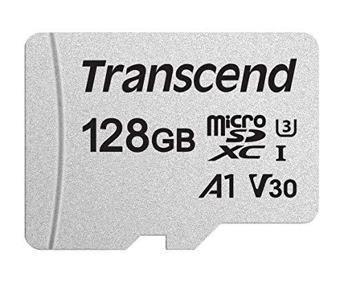 Transcend Highspeed 128GB micro SDXC/SDHC Speicherkarte (für Smartphones, etc. & Digitalkameras)  / 4K, U3, V30, A1, UHS-I – TS128GUSD300S