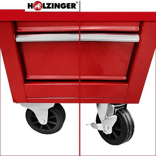 Holzinger Werkzeugwagen HWW1005KG – kugelgelagert (5 Schubfächer) - 6