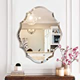 MIRROR TREND Frameless Mirror for Bathroom, Vanity, Living Room, Bedroom (Emma Shape-Large)