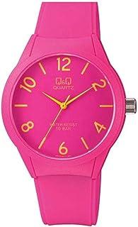 Q&Q Wrist Watch Plastic Band, Analogue, Pink Color - VR28J019Y