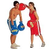 NET TOYS Aufblasbare Boxhandschuhe blau Box Handschuhe Boxhandschuh Handschuh Scherzartikel Karneval...
