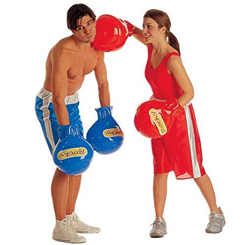 NET TOYS Aufblasbare Boxhandschuhe rot Boxer Handschuh zum Boxerkostüm Boxhandschuh Handschuh Kostüm Zubehör