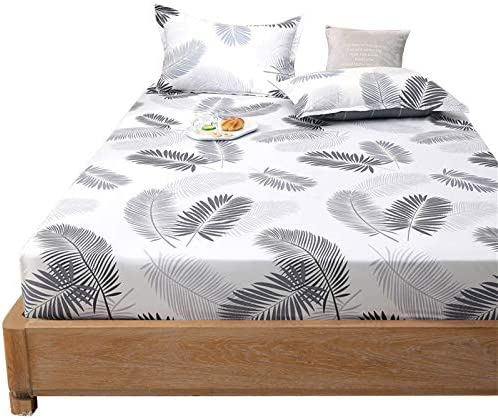Ranking TOP13 WNAVX Duvet 1PC Fitted Sheet Mattres Geometric Bed Sheets Floral Selling