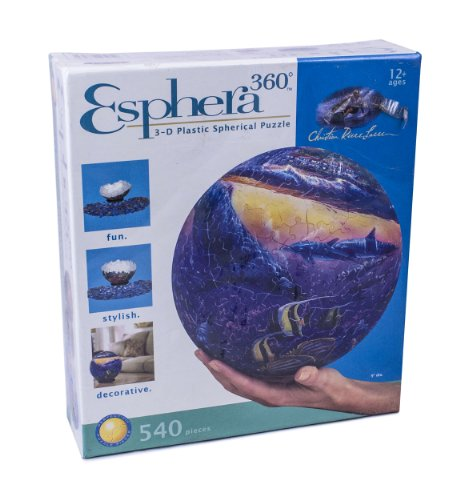 "Esphera 360 9"" 540 Pieces Sphere Art: Lassen's ""Reef of Miracles"" by Mega Brands"