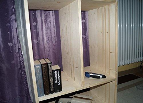 2in1 Regal Sideboard Bücherregal Schrank Wohnwand aus Massiv Fichte 120x64x40cm geschliffen Made in Germany - 8