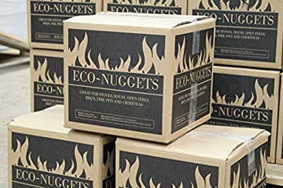 Briquettes - 70 x 14kg Boxes of Eco-friendly Long Slow Burning Wood Fuel Log Fire Wood BurnerNuggets Large Pallet