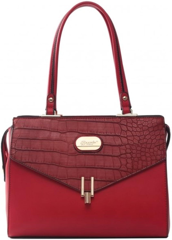 Verona H & L New Women's Matte Crillic Vegan Leather Handbag