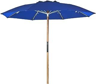7.5 ft. Fiberglass Rib Commercial Grade Beach Umbrella with Ash Wood Pole