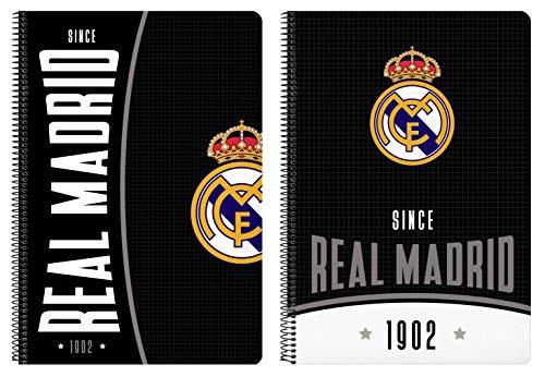Safta Cuaderno 80 Hojas de Real Madrid, Tapas Duras, 215x310 mm