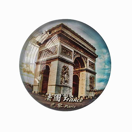 MUYU Magnet Paris Arc de Triomphe France Aimant Réfrigérateur Voyage Souvenir Cadeau Maison et Cuisine Décoration Autocollant Magnétique Cristal Réfrigérateur Collection Aimant