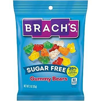 Brach s Sugar Free Gummy Bears 3 Ounce Pack of 12