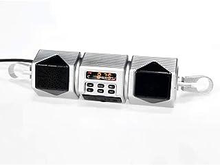 mewmewcat Alto-falante para motocicleta BT Áudio Player Alto-falantes estéreo resistentes à água Rádio FM Subwoofer MP3 Ac...
