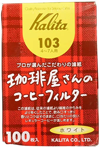 Kalita 103 Kaffee-Shop-Serie weißer Papierfilter