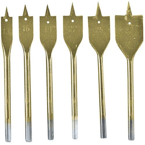 Silverline DS32 - Set di 6 punte piatte per legno in titanio