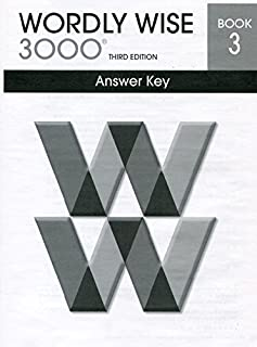 Wordly Wise 3000 Book 3 Answer Key, 3rd Edition