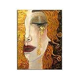 Fdit Leinwandbild für Gustav Klimt, goldene Tränen,