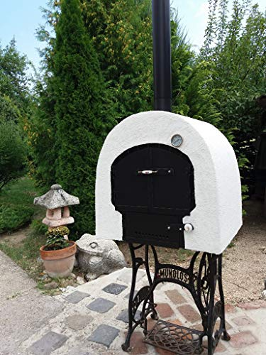 JONAS OVEN Original Hungarian Handmade Wooden Stove for the Garden 72 x 63 cm Mobile Wood Oven Stone Oven Wood Oven Insulated Garden Oven Pizza Oven Long Burning Stove Fire Stone Double Chamber