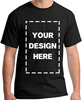 Men Custom Add Your Personalized Design Photo Text Name Here Cotton T-Shirt Black