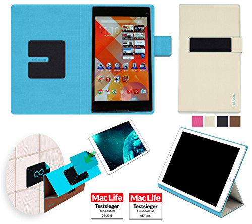Hülle für Medion Lifetab S8312 Tasche Cover Hülle Bumper | in Beige | Testsieger