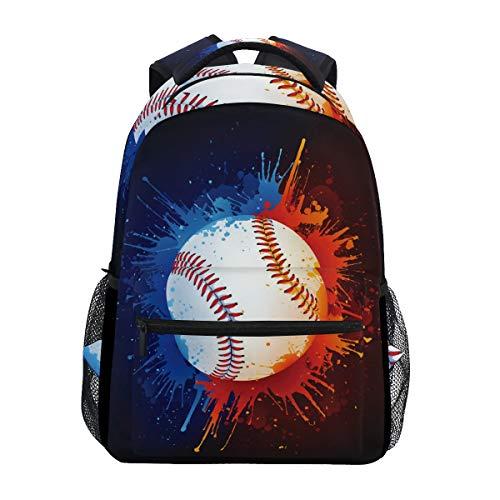 Sport-Rucksack für Schüler, Schule, Reisen, Wandern, Camping, Laptop, Rot / Blau
