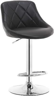 Antique European Style 60-80cm Height Adjustable Swivel Bar Chair Stool Iron Art Soft Cushion High Footstool Rotatable Backrest Furniture