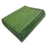 Craft Story Decke Yara I Uni Apfel-grün aus 100prozent Baumwolle I Tagesdecke I Sofa-Decke I Überwurf I Picknickdecke I Nutz- und Schutzdecke I ca.170 x 220cm