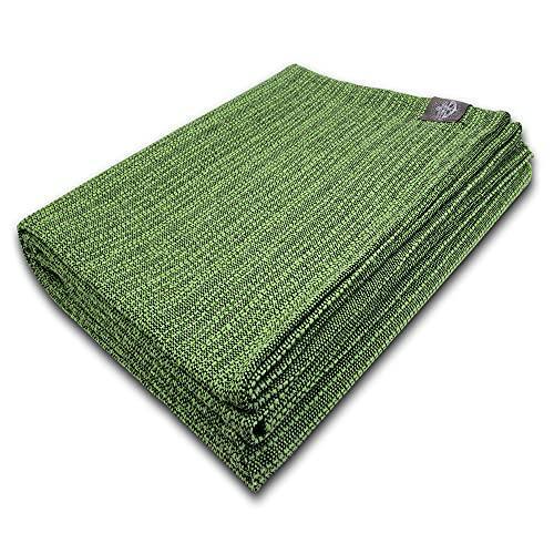 Craft Story Decke Yara I Uni Apfel-grün aus 100% Baumwolle I Tagesdecke I Sofa-Decke I Überwurf I Picknickdecke I Nutz- & Schutzdecke I ca.170 x 220cm